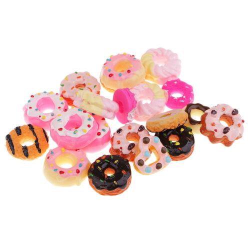 20pcs Kawaii Donut Harz Flatback Cabochons Schmucksteine Strasssteine zum