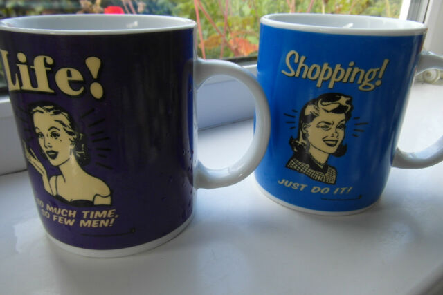 Rex Retrospoof Coffee Mugs x 2 Shopping Life