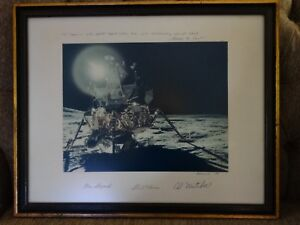 Vintage-NASA-Apollo-14-Crew-Signed-Moon-Kodak-Photo-Mitchell-Roosa-Shephard