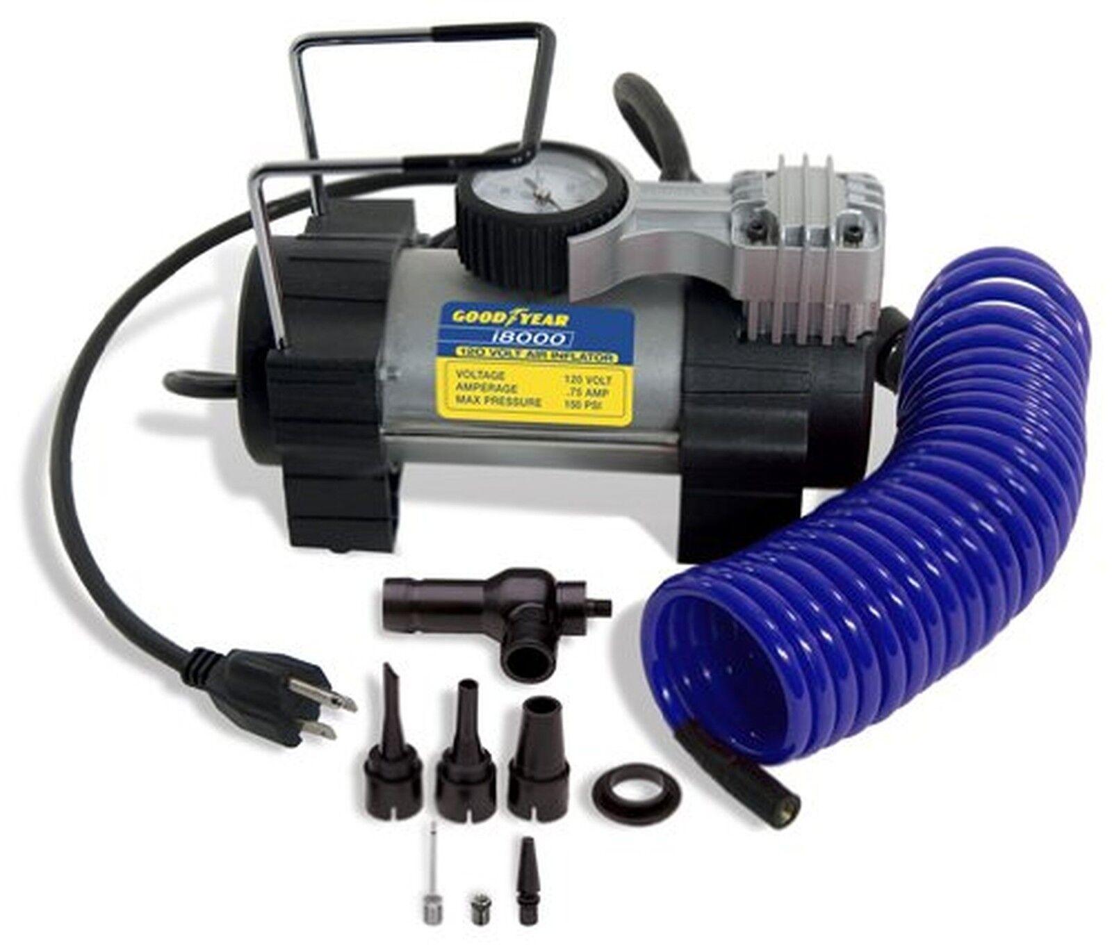 Goodyear i8000 120-Volt Direct Drive Tire Inflator Air Pump Compressor For Car