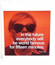 "Andy Warhol ""In The Future..."" Print/Poster 11"" x 14"" Red"