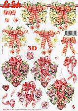 Le Suh 3D Motivbogen Etappenbogen Bilderbogen Blumenherz (150) Grusskarte