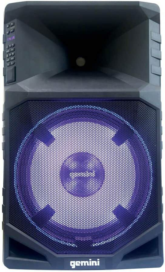 Gemini Portable Water Resistant Bluetooth Party Speaker with Stand & Mic | Ebay