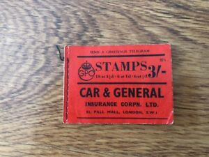Rare-Vintage-Old-British-Book-Of-Stamps