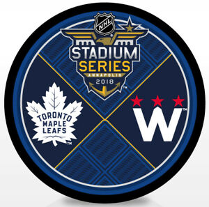 08befac16 2018 NHL Stadium Series Dueling Hockey Puck Toronto Maple Leafs vs ...