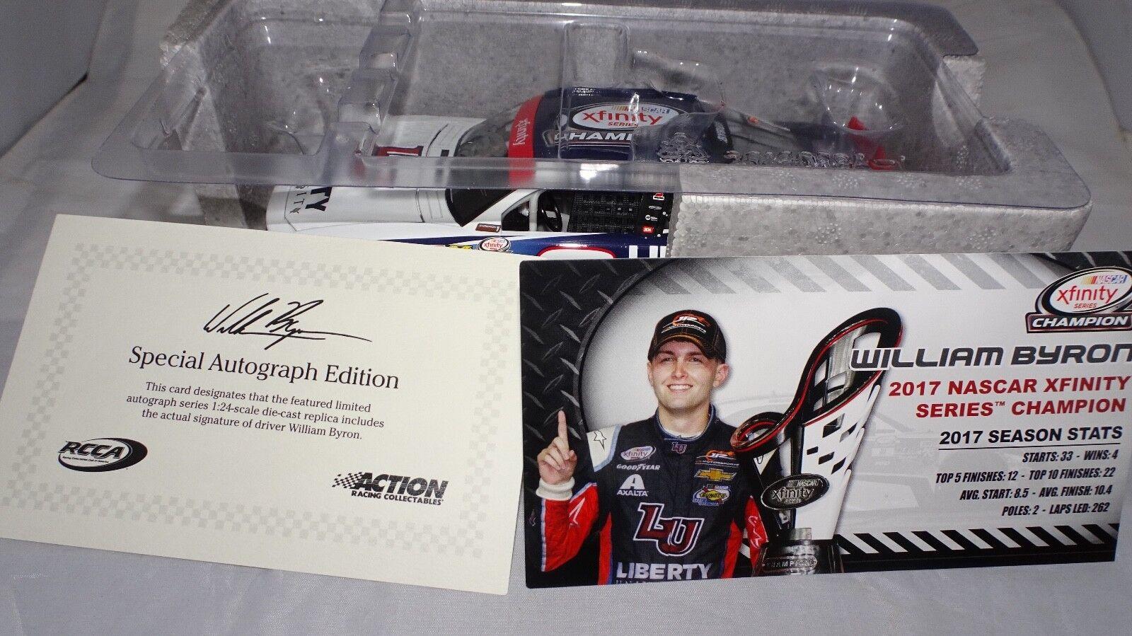 NASCAR William Byron 9 Liberty University Champion 2017 dédicacé 1 24