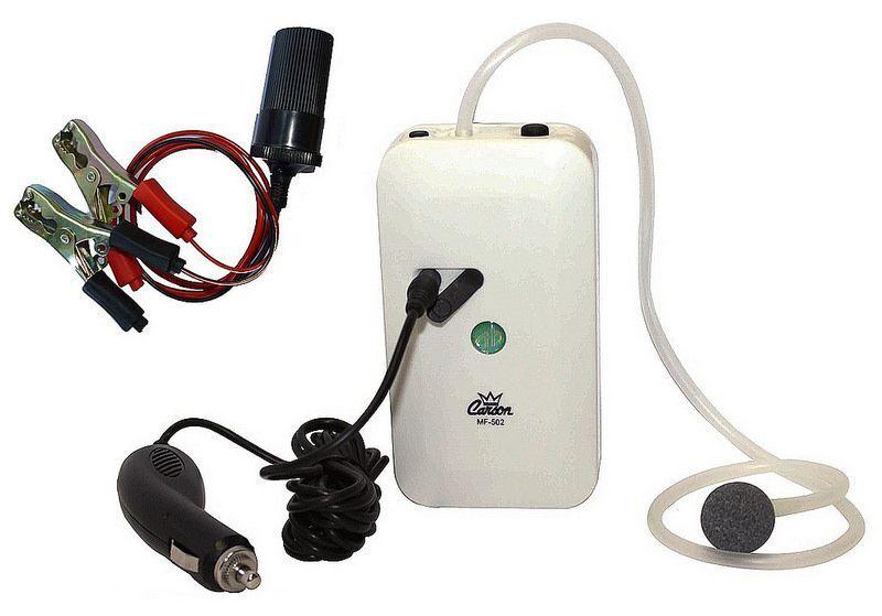 Ossigenatore da pesca batterie cavo adattatore accendisigari 12 volt barca mare