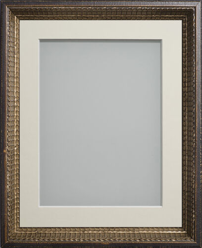 Ornate Decorative Traditional Bronze Effect Large Picture Photo Frame with Mount