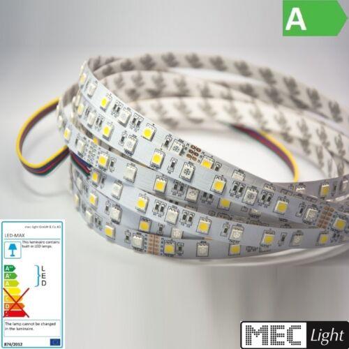 14€//m 0,5-5m RGBWW Streifen 30//30X 3-Chip-SMDs//m RGB-WW 2800-3200K 12V IP20