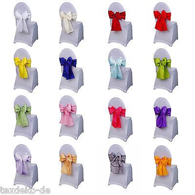 Schleifenbänder aus Taft, Stuhlschleifen, Schleifen für Stuhlhussen, Dekoration