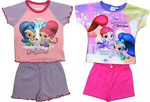 Girl/'s SHIMMER /& SHINE Pyjama Shorts Set//Shorty PJs//Summer PJs 18 months-5 years