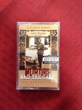 Snoop Doggy Dogg Murder Was the Case CASSETTE TAPE Hiphop Soundtrack 1994 New