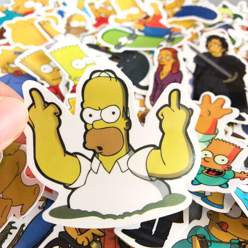 """Kids Cartoon Stickers The Simpsons Pack for Skateboard//Luggage//Laptop 50PCS 2.5/"""""""