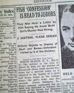 ALBERT FISH Serial Killer Child Rapist & Cannibal COURT TRIAL 1935