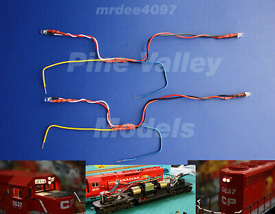 wired LED lights 12 volt white 15 pcs HO /& N Scale 3 mm pre