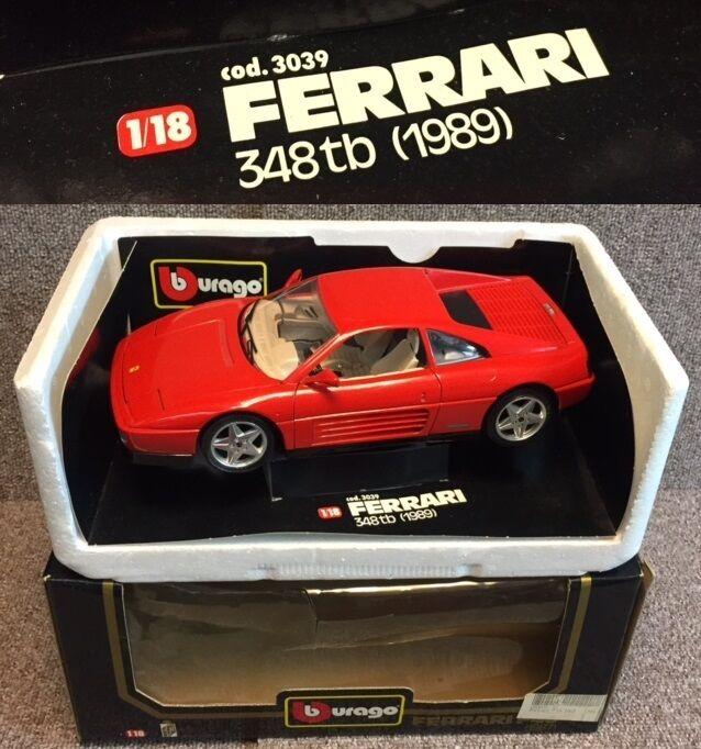 FERRARI 348 TB (1989) BURAGO - Miniature en Métal 1 18ème Comme NEUVE