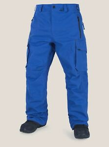2018-NWT-MENS-VOLCOM-PROJECT-PANTS-L-Snow-Royal-articulated-fit-waterproof