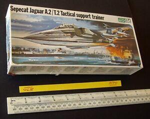 Sepecat Jaguar A.2 Attack Bomber or T.2 Trainer Vintage 1970s Frog 1:72  (570)