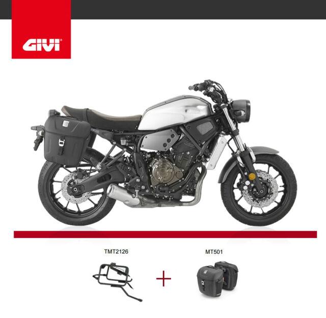 Yamaha XSR700 2016 GIVI TMT2126 PANNIER RACK MT501 Metro-T range side case bags