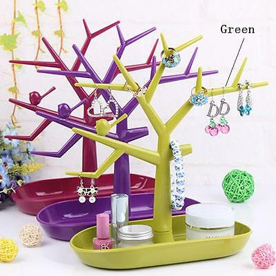 Earring Ring Jewelry Tree Stand Bracelet Necklace Organizer Display Show Rack