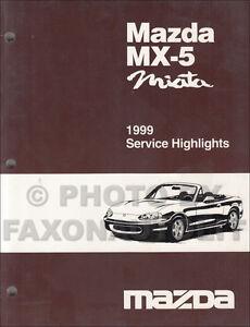 1999 mazda miata service highlights manual original oem mx 5 mx5 ebay rh ebay com 1999 miata service manual pdf 1999 mazda miata owners manual pdf