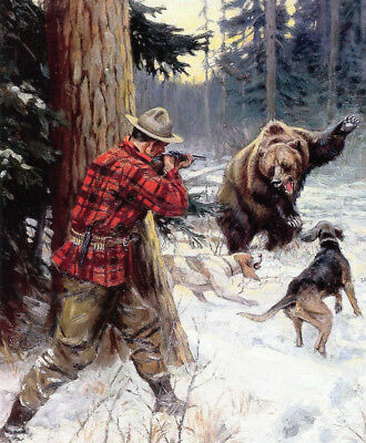 Hunter Hounds Bear by Phillip Goodwin