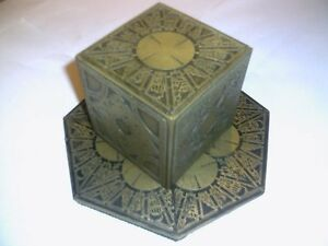 Hellraiser-Puzzle-Box-With-A-Round-Top-And-Antique-Gold-Finish-made-in-resin