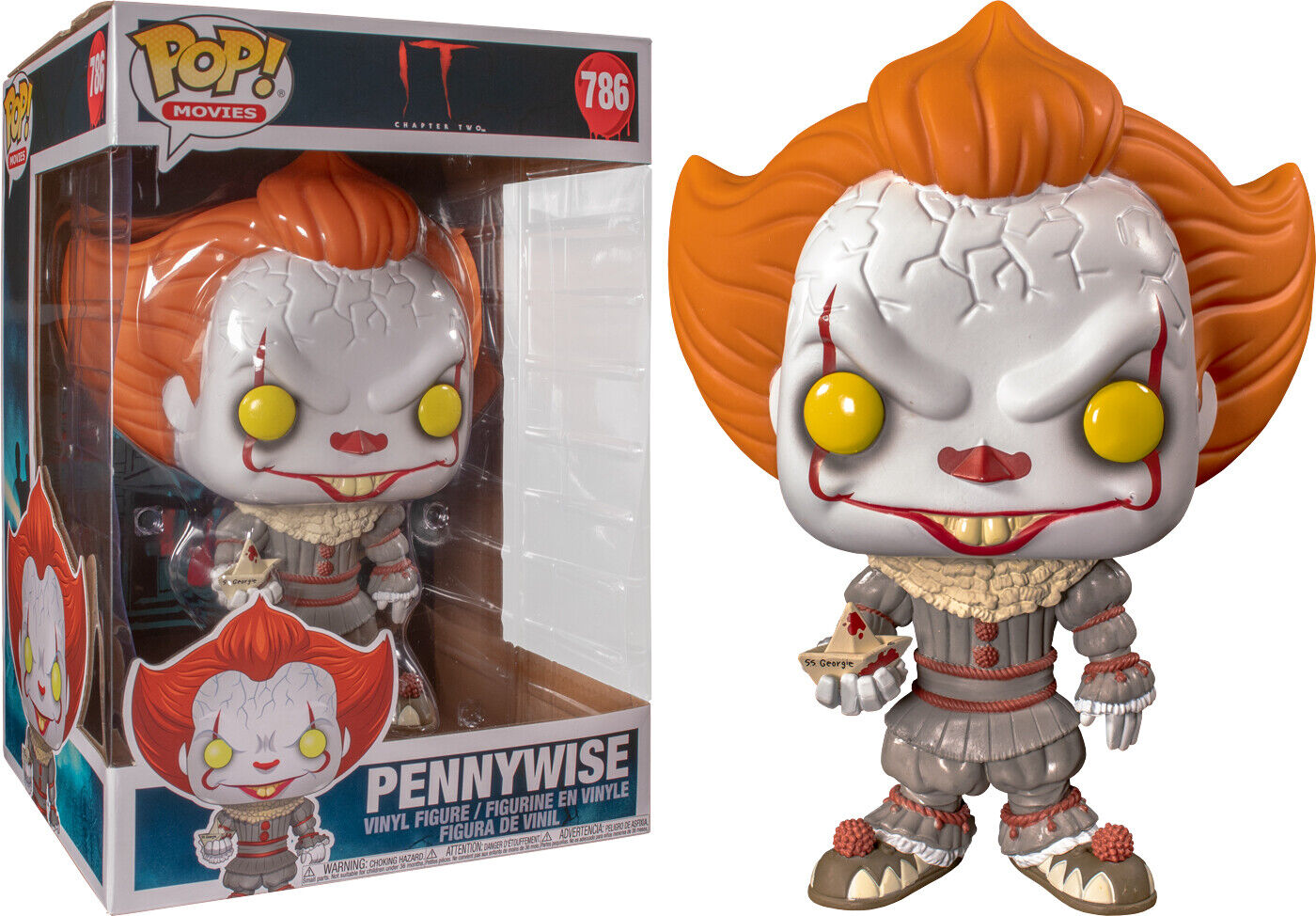 It  Chapter Two - Pennywise with Boat 10  Pop  Vinyl Figure