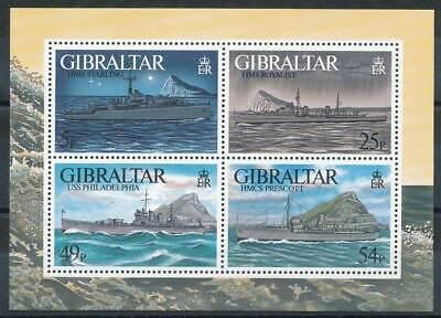 Gibraltar Briefmarken Gibraltar Block 26** Schiffe Taille Und Sehnen StäRken Nett 253684