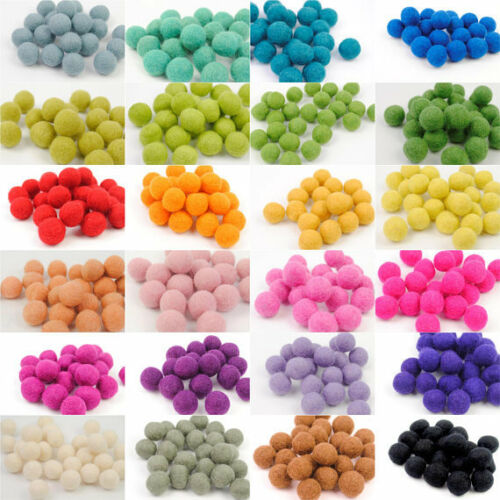 Elegir Colores Pom Pom bolas 100/% lana de fieltro tamaño 2 cm granos Vivero Craft Supplies