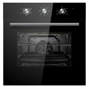 Cookology-COF600BK-60cm-Black-Built-in-Single-Electric-Fan-Forced-Oven-amp-timer