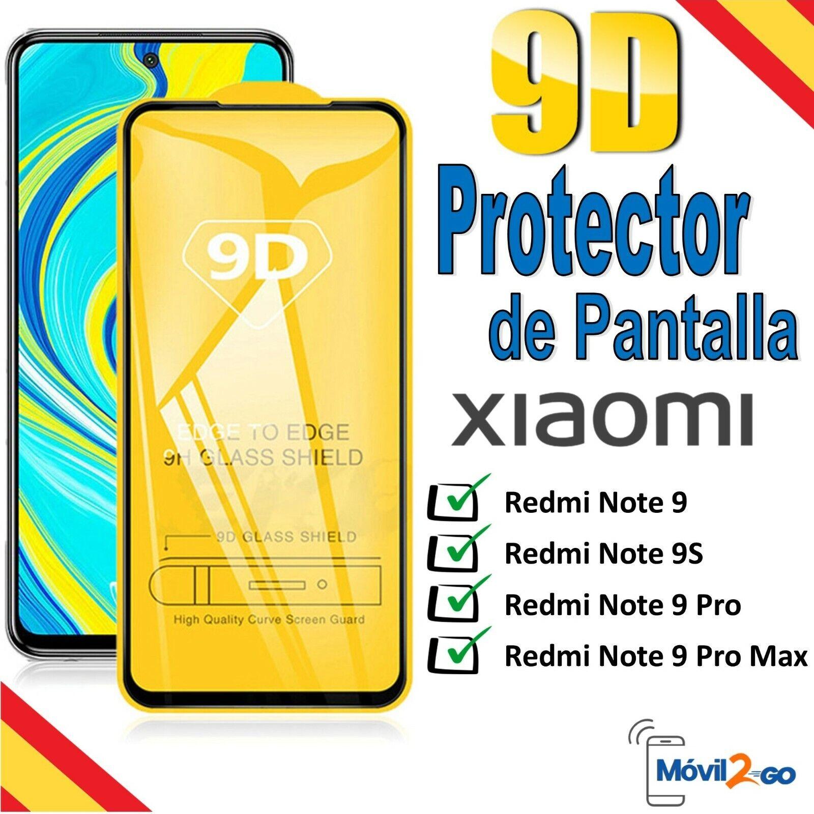 xiaomi: Protector de Pantalla Xiaomi Redmi Note 9 / 9S / 9 Pro / Max Cristal Templado 9D