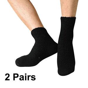 2-Pairs-Womens-Cozy-Fuzzy-Soft-Warm-Socks-Winter-Short-Ankle-Sock-Solid-Hosiery