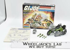 Silver Mirage Motorcycle 100% Complete W/Box GI Joe Cobra 1987 Vintage Hasbro