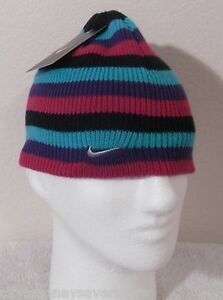 bac7193bfe5 NWT Nike Youth Girls Knit Beanie Hat Cap 4 6X Multi-Color MSRP 17
