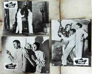 3-Original-Aushangfotos-Starr-vor-Angst-Jerry-Lewis-Dean-Martin-s-w