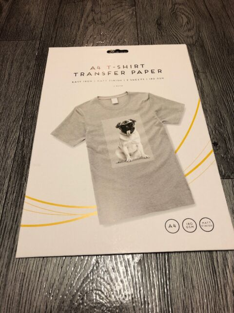 T Transfer Paper For Ink Jet Print A4 Iron on T-Shirt Pack of 2