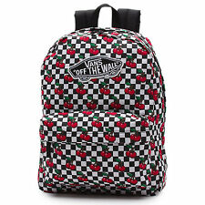 Vans Realm Checkers Cherry Backpack Book Travel Gym Bag New