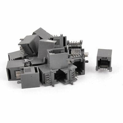 uxcell RJ12 6P6C Side Entry Modular Network Jacks Connectors 5 Pieces