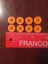 8 Orange Resin Buttons