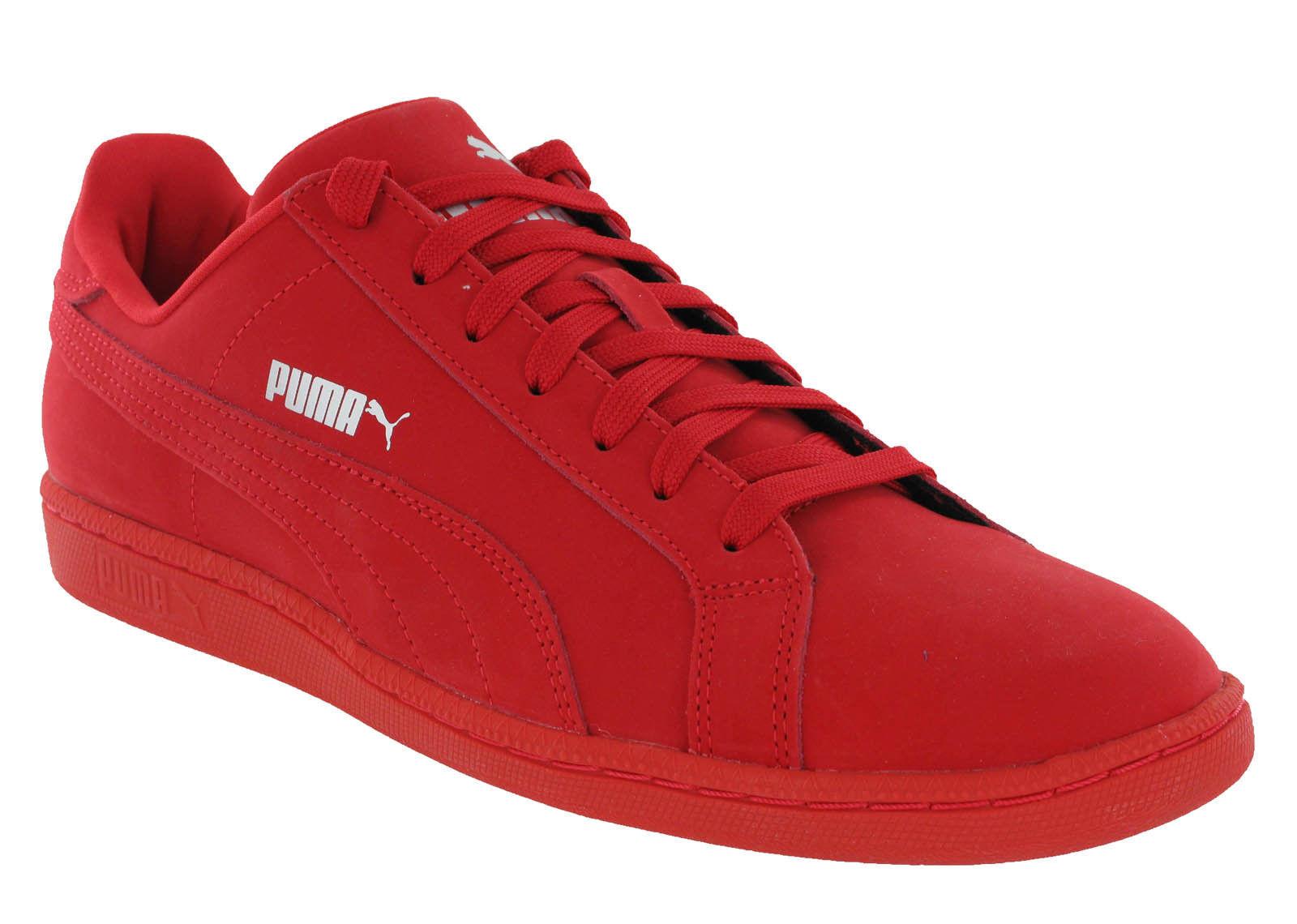 Puma Smash Buck Mono Hohes Risiko ROT FREIZEIT LO Jungen Turnschuhe Schuhe UK