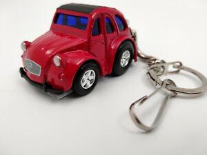 Porte-cle-2cv-Citroen-ulta-fun-rouge-neuf-en-metal-idee-cadeau