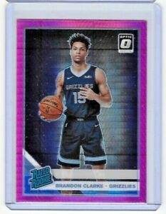 2019-20-Donruss-Optic-Brandon-Clarke-Pink-Hyper-Prizm-RC-Rookie-Grizzlies-194
