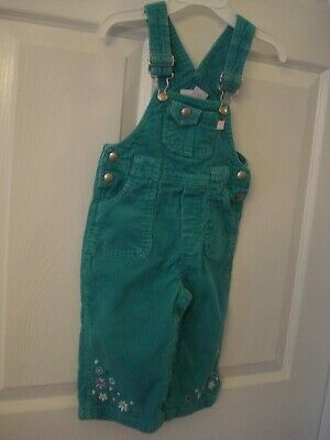 VINTAGE Green Corduroy Overalls Size 18 months