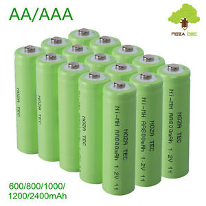 aa aaa 1 2v 600 800mah nimh rechargeable batteries for. Black Bedroom Furniture Sets. Home Design Ideas