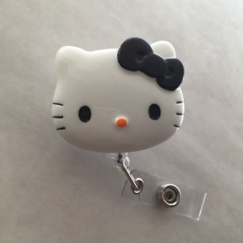 "1.9/"" Retractable Reel ID Badge Holder/_black Bow 1pc Hello Kitty 45mm"