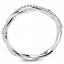 042-ROUND-ETERNITY-BAND-SIMULATED-DIAMOND-RING-STAINLESS-STEEL-WEDDING-TWIST thumbnail 3