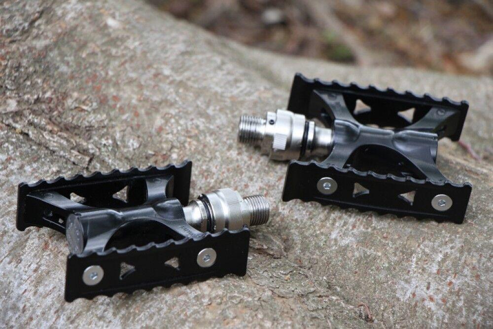Nuevo F MKS (Mikashima) eliminación S Pedal Touring-LITE Ezy súperior Negro Plata