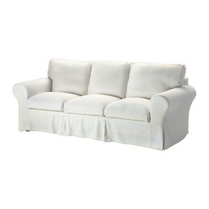 IKEA White EKTORP Cover for IKEA EKTORP Sofa 3 seater Stenasa White Slipcover