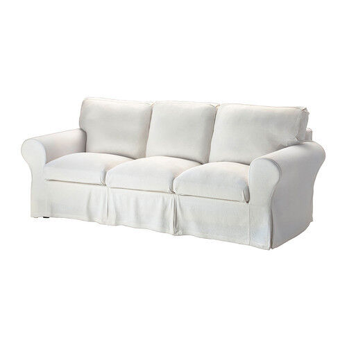 Ikea Rp Stenasa 3 Seat Sofa Slipcover White Washable Linen Blend Cover Ebay